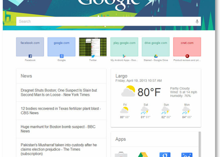 Add Google Now style to New Tab page in Chrome - TechnoEXPRESS