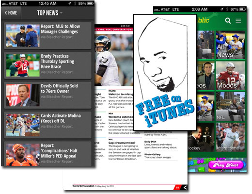 Hey Sportsfans! 3 Free iOS Sports News Apps Right Here!